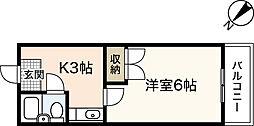 シャンテ長束[3階]の間取り