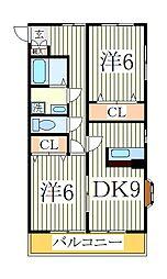 ヴィラソメヤ[2階]の間取り