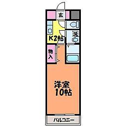 愛媛県松山市泉町の賃貸マンションの間取り