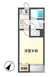 愛知県名古屋市中川区九重町の賃貸アパートの間取り