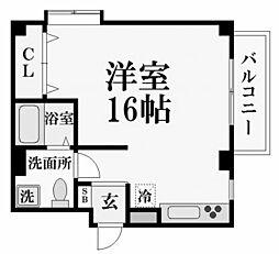 松生ビラ[3階]の間取り