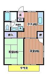 パールメントハイツB棟[2階]の間取り