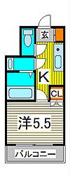 蕨テラス[4階]の間取り