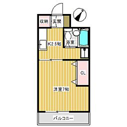 鈴木ビル[305号室]の間取り