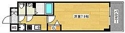 プレサンス難波ラフィーネ 9階1Kの間取り