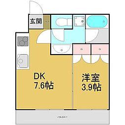 diciottoATSUTA[3階]の間取り