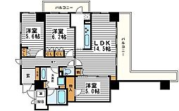 エル・セレーノ上本町レジデンス[4階]の間取り