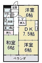 マンション寿 1階[102号室]の間取り