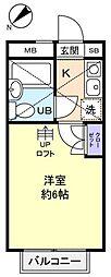 サンパレス勝田台参番館[1階]の間取り