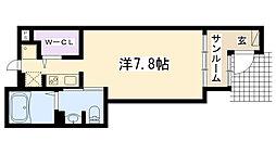 エトワール学文殿 A・B[B102号室]の間取り