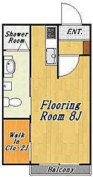 クレール3[2階]の間取り