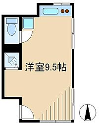 双葉町アパート[1階]の間取り