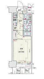 Osaka Metro中央線 堺筋本町駅 徒歩5分の賃貸マンション 12階1Kの間取り