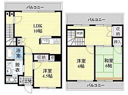 パラッツオ京橋 7階3LDKの間取り