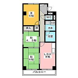 上名古屋ハイツ[5階]の間取り