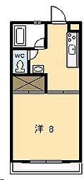 ピュアコート清武[202号室]の間取り
