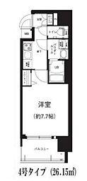 Osaka Metro谷町線 谷町六丁目駅 徒歩8分の賃貸マンション 12階1Kの間取り