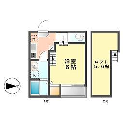 La ciel菊井[1階]の間取り
