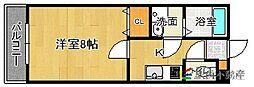 福岡県福津市花見の里1丁目の賃貸アパートの間取り