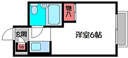 シャンボール中野[5階]の間取り