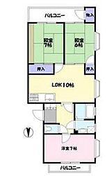 エメラルドマンション[3階]の間取り