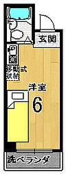 ユーシティ早川[203号室]の間取り