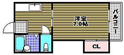 大阪府大阪狭山市金剛1丁目の賃貸マンションの間取り