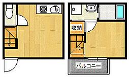 兵庫県神戸市垂水区平磯4丁目の賃貸アパートの間取り