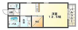 大阪府大阪市平野区喜連2丁目の賃貸アパートの間取り