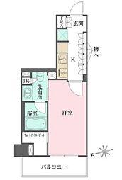 東京メトロ有楽町線 江戸川橋駅 徒歩6分の賃貸マンション 7階1Kの間取り