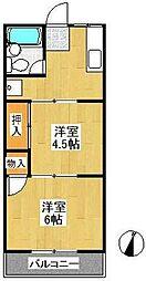 メゾンアイザワI[2階]の間取り