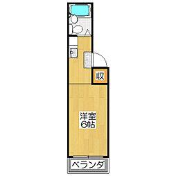 スタジオ大京[3C号室]の間取り