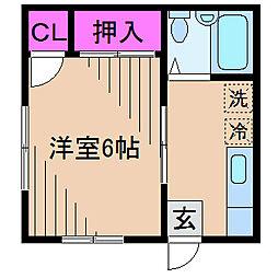 神奈川県川崎市中原区木月3丁目の賃貸アパートの間取り