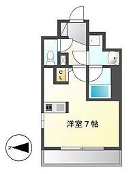 スクエア・アパートメント[6階]の間取り
