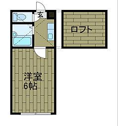神奈川県相模原市中央区共和4丁目の賃貸アパートの間取り