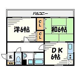 フラミニアコートI[2階]の間取り