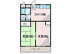クレスト・ウィステリア[2階]の間取り