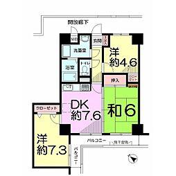 埼玉県さいたま市西区指扇の賃貸マンションの間取り