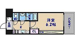 スプランディッド難波II[11階]の間取り