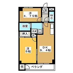 サバトシティ福田町[3階]の間取り