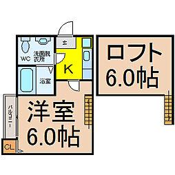 愛知県名古屋市東区矢田4丁目の賃貸アパートの間取り