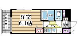 兵庫県神戸市兵庫区駅南通1丁目の賃貸マンションの間取り