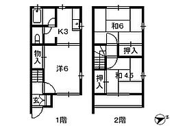 千葉県船橋市飯山満町の賃貸アパートの間取り