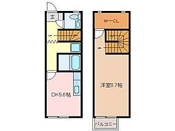 [一戸建] 三重県松阪市嬉野中川新町2 の賃貸【/】の間取り