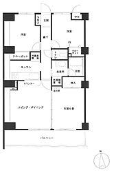 アーウィン戸塚ヒルズ[602号室]の間取り