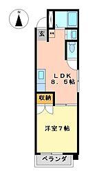シャトーレ藤江[3階]の間取り