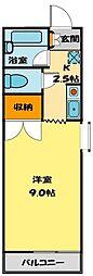 かすみコーポ内田[206号室]の間取り