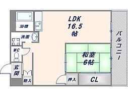 ロイヤルサカエマンション[ 405号室]の間取り
