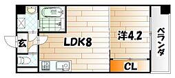 福岡県北九州市戸畑区浅生2の賃貸マンションの間取り