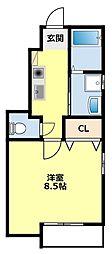 愛知県豊田市青木町1丁目の賃貸アパートの間取り